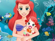 Mermaid Ariel Give Birth To A Baby